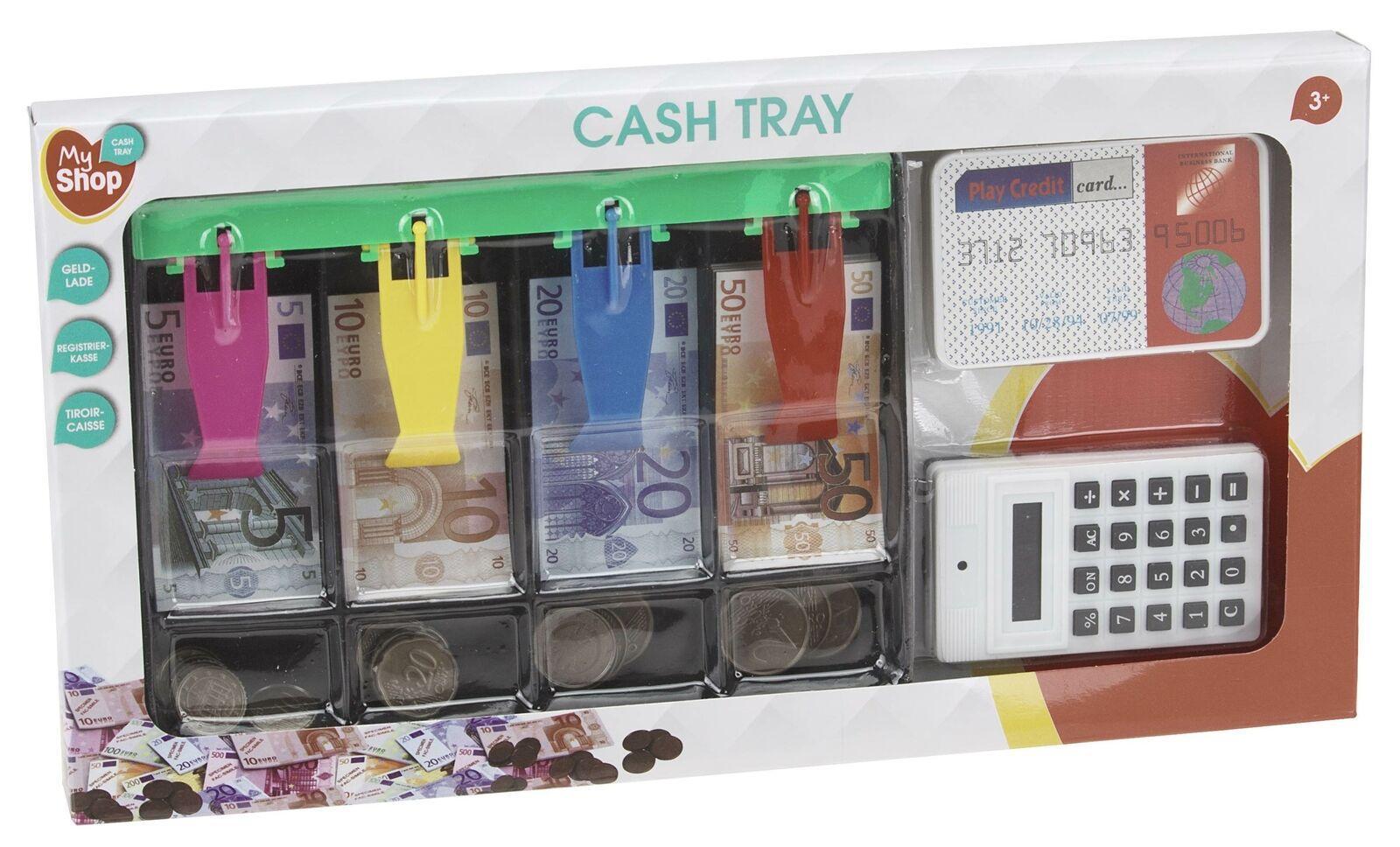 kinder kaufladen spielgeld kassenschublade mit euro geld
